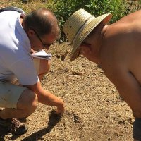 Mauro Finotti testing the soil quality