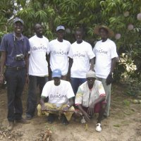 Amacodou Diouf (to the very left) with some assistants from the Buur Sine co-operative