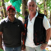 Aquilino Cruz and Volker Schmidt, the local BioTropic banana specialists