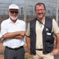 They have been working together for 5 years: Lahcen El Hjouji and BioTropic employee Mauro Finotti