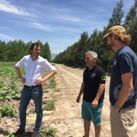 A visit to Iceberg Agricola, the pumpkin specialists (from l. Joep van Koevorden, Diego Iglesias)