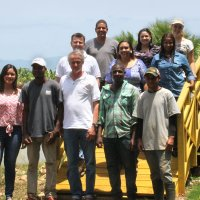 Part of the team from the Dominican Biotropic Office
